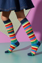 Colourful Stripe Knee-High