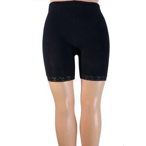 Short legging met kant blauw